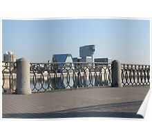Embankment cast-iron fence Poster