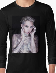 Miley Cyrus By Photographer Rankin Long Sleeve T-Shirt