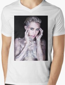 Miley Cyrus By Photographer Rankin Mens V-Neck T-Shirt