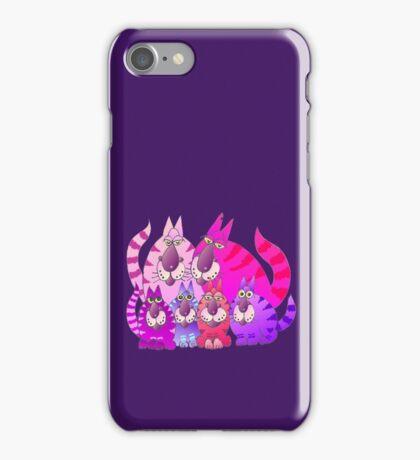 Purrrrfect in pink iPhone Case/Skin