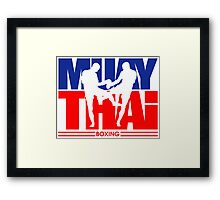 Muay Thay Boxing Logo Thailand Martial Art  Framed Print
