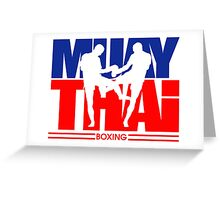 Muay Thay Boxing Logo Thailand Martial Art  Greeting Card
