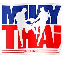 Muay Thay Boxing Logo Thailand Martial Art  Poster