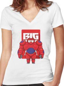 Big Hero Women's Fitted V-Neck T-Shirt