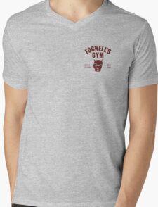 Fogwell's Gym (black/small) Mens V-Neck T-Shirt