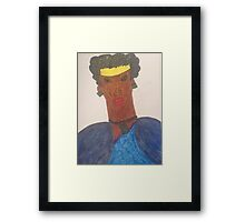 Black Royalty Framed Print