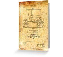 TIR-Car - Ancient Canvas Greeting Card