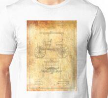 Patent Image - Car - Ancient Canvas Unisex T-Shirt