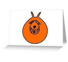 Space Hopper Greeting Card