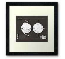 Sputnik Diagram. Framed Print