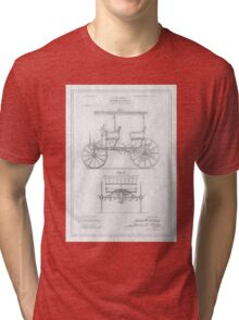 TIR-Car - White Tri-blend T-Shirt