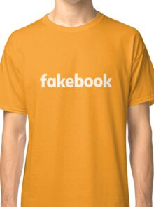 Fakebook Logo White Classic T-Shirt