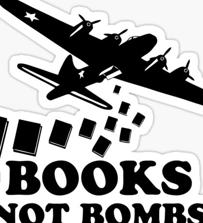 Funny Books Not Bombs Sticker