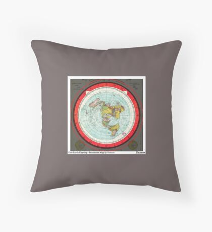 Flat Earth map Throw Pillow