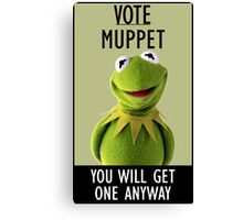 Vote Muppet Canvas Print