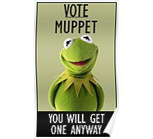 Vote Muppet Poster
