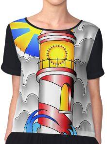 Traditional Lighthouse  Chiffon Top