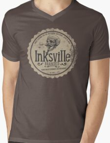 Inksville Branded Hipster Skull T-Shirt Mens V-Neck T-Shirt