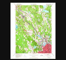 USGS TOPO Map Rhode Island RI Pawtucket 353333 1949 24000 Unisex T-Shirt