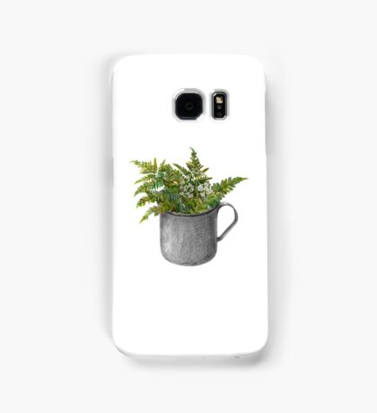 Mug with fern leaves Samsung Galaxy Case/Skin