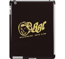 billionaire boys club gold and logo iPad Case/Skin