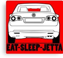 Eat Sleep Volkswagen Jetta Canvas Print