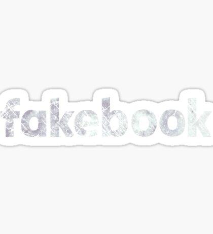 Fakebook Vintage Logo White Sticker