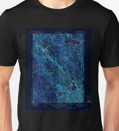 USGS TOPO Map Rhode Island RI Pawtucket 353439 1944 31680 Inverted Unisex T-Shirt