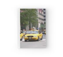 New York 5th Ave Yellow Cabs Hardcover Journal