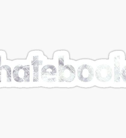 Hatebook Logo Vintage Sticker