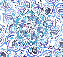The Blues - Watercolor Mandalas by Tangerine-Tane