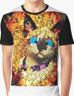 Mirrored Kitten Graphic T-Shirt