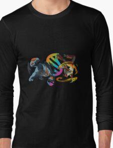 MegaEvolution (Swampert vs Blaziken)-Pokemon Long Sleeve T-Shirt