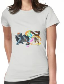 MegaEvolution (Swampert vs Blaziken)-Pokemon Womens Fitted T-Shirt