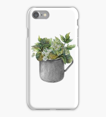 Mug with green forest growth iPhone Case/Skin