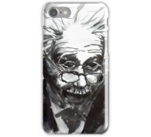 Einstein portrait in B&W ink iPhone Case/Skin