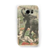 Elephant rampage Crystal Palace London 1900 Samsung Galaxy Case/Skin