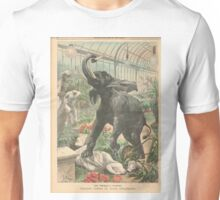 Elephant rampage Crystal Palace London 1900 Unisex T-Shirt