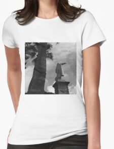 Statue of Christoper Columbus in Cartagena Spain Womens Fitted T-Shirt