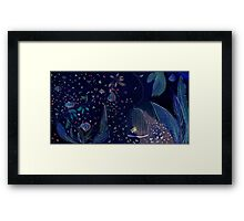 blue flowers and figues Framed Print