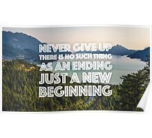 Never Give Up QUOTE Poster