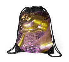 Thailand - Bangkok - Purple exposure on Buddha Drawstring Bag