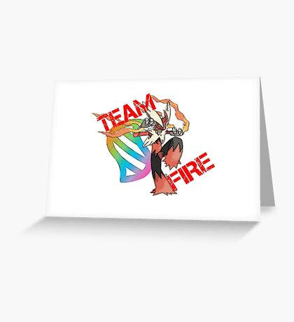 Pokemon - Team Fire - Blaziken Greeting Card