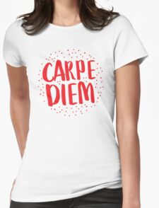 CARPE DIEM (in RED) SEIZE THE DAY in latin T-Shirt