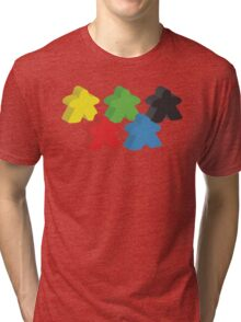 Set of 5 meeples (Board game tokens) Tri-blend T-Shirt