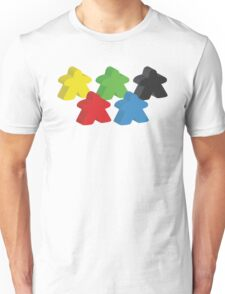 Set of 5 meeples (Board game tokens) T-Shirt