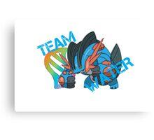 Pokemon - Team Water - Swampert Canvas Print