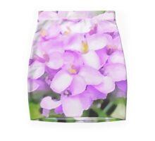 Small Purple Flowers Mini Skirt