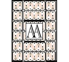 1920s Pink Champagne Gatsby Monogram (double initials AA) Photographic Print