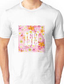 Tropical Paradise Design with Flowers Unisex T-Shirt